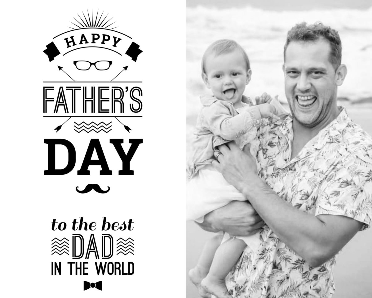 Fathers Day Card 2 Balck and white