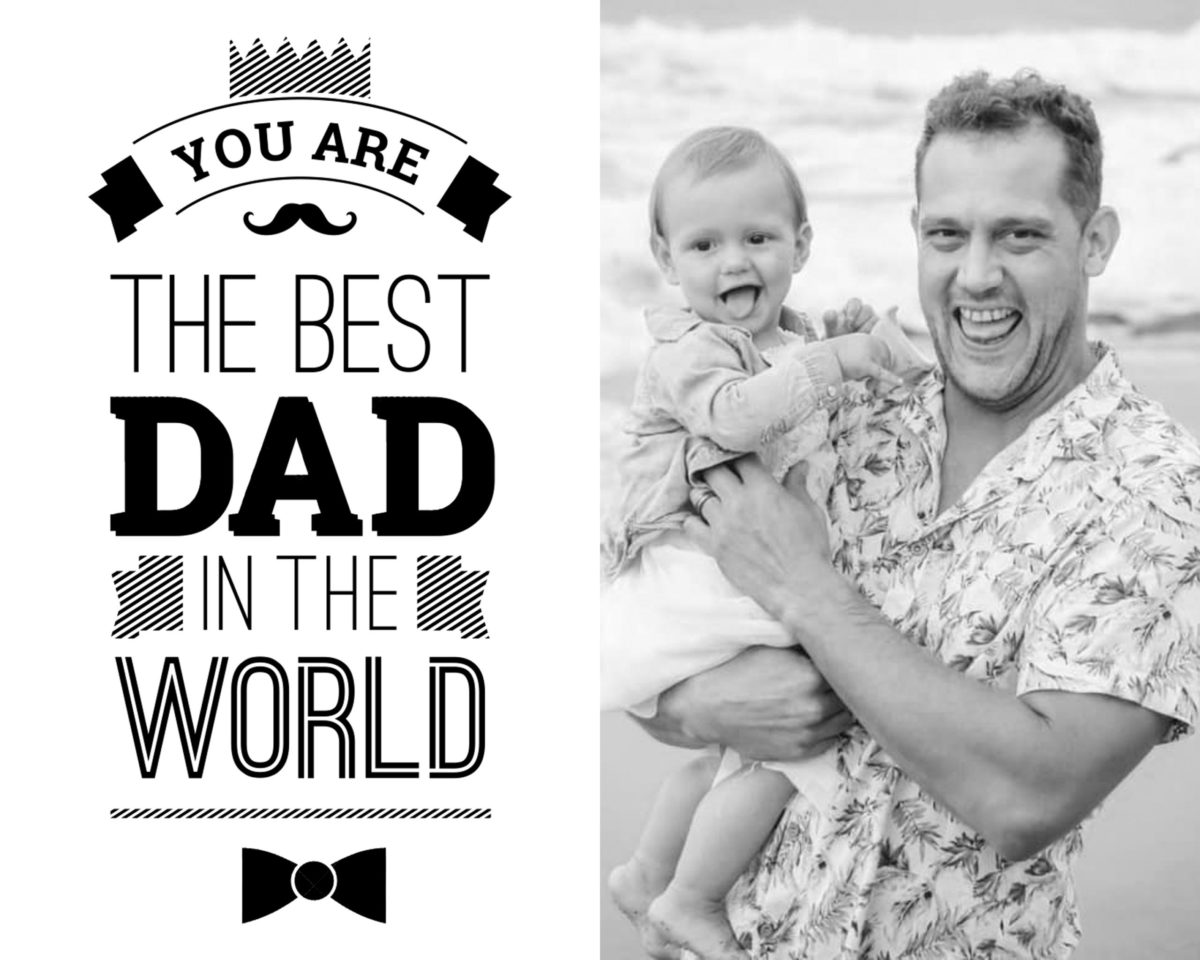 Fathers Day Card 3 – b&w