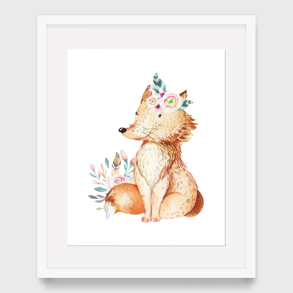 41. Fox with floral (2)