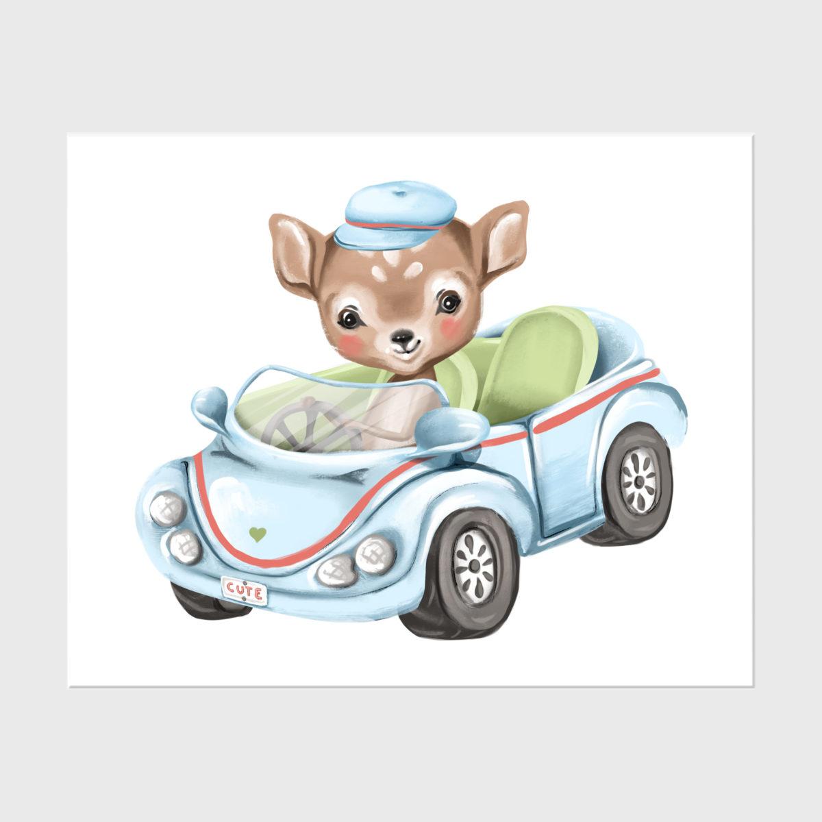 11. Baby deer in car