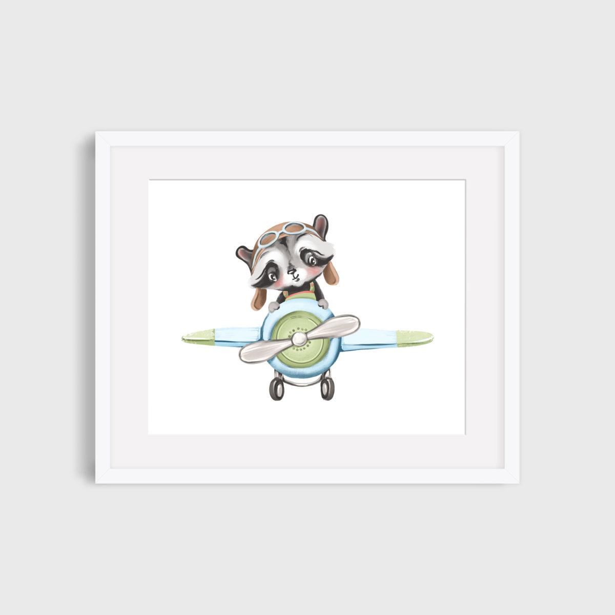 17. Baby raccoon pilot