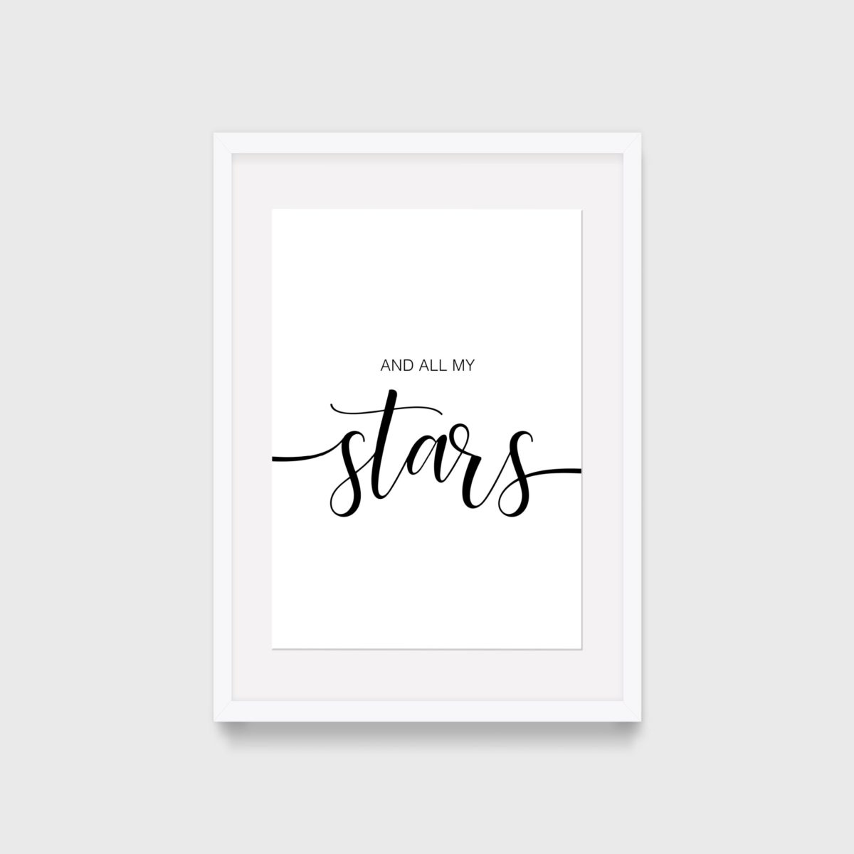 And all my stars – with frame