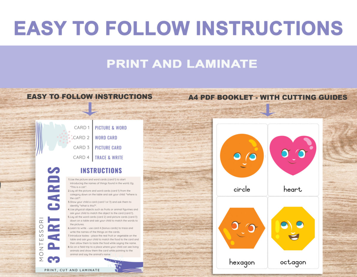 2. Shapes – Instructions Template