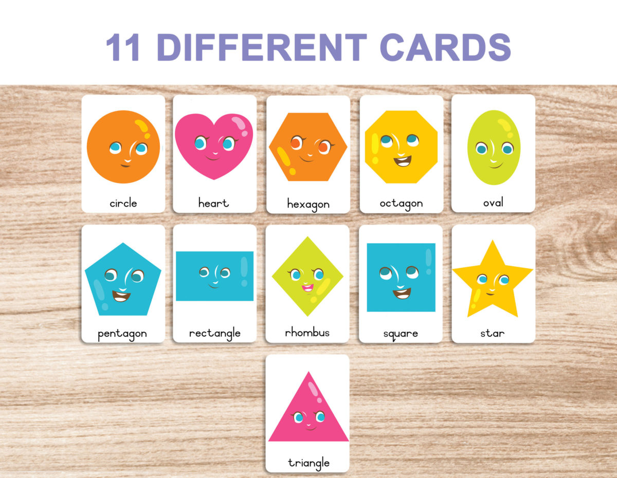 3. Shapes – Flash Cards template