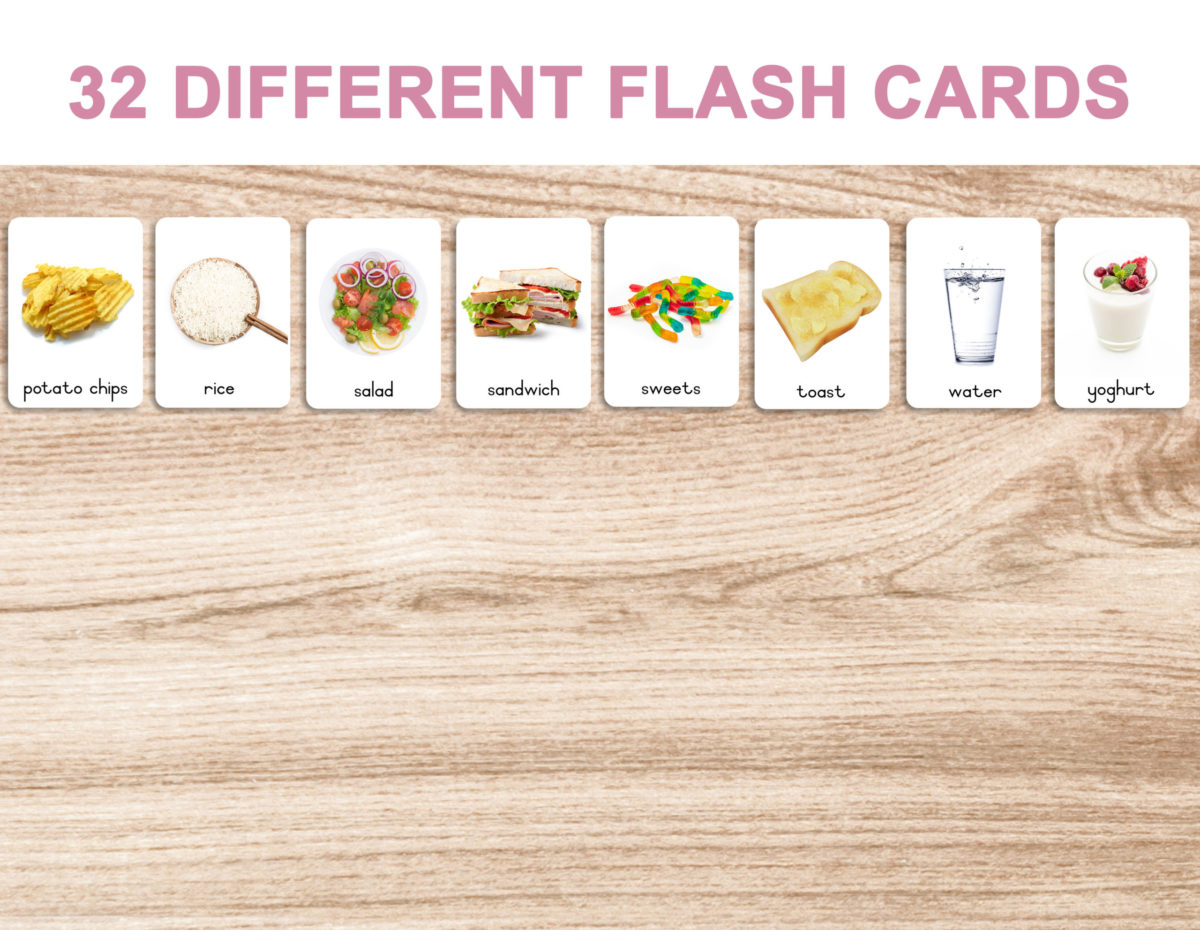 4. Foods – Cards b template