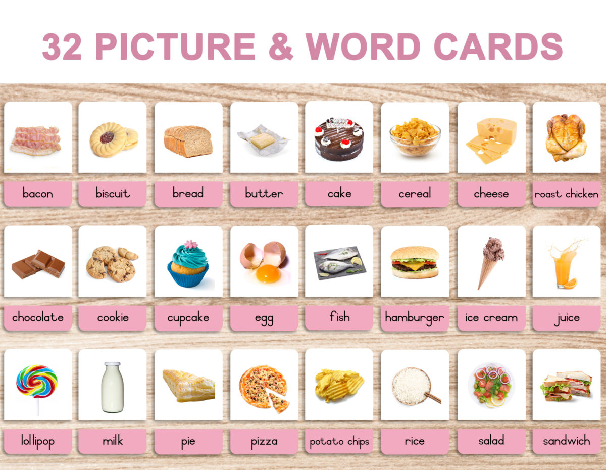 5. Foods – Picture and Word Template 1 – English