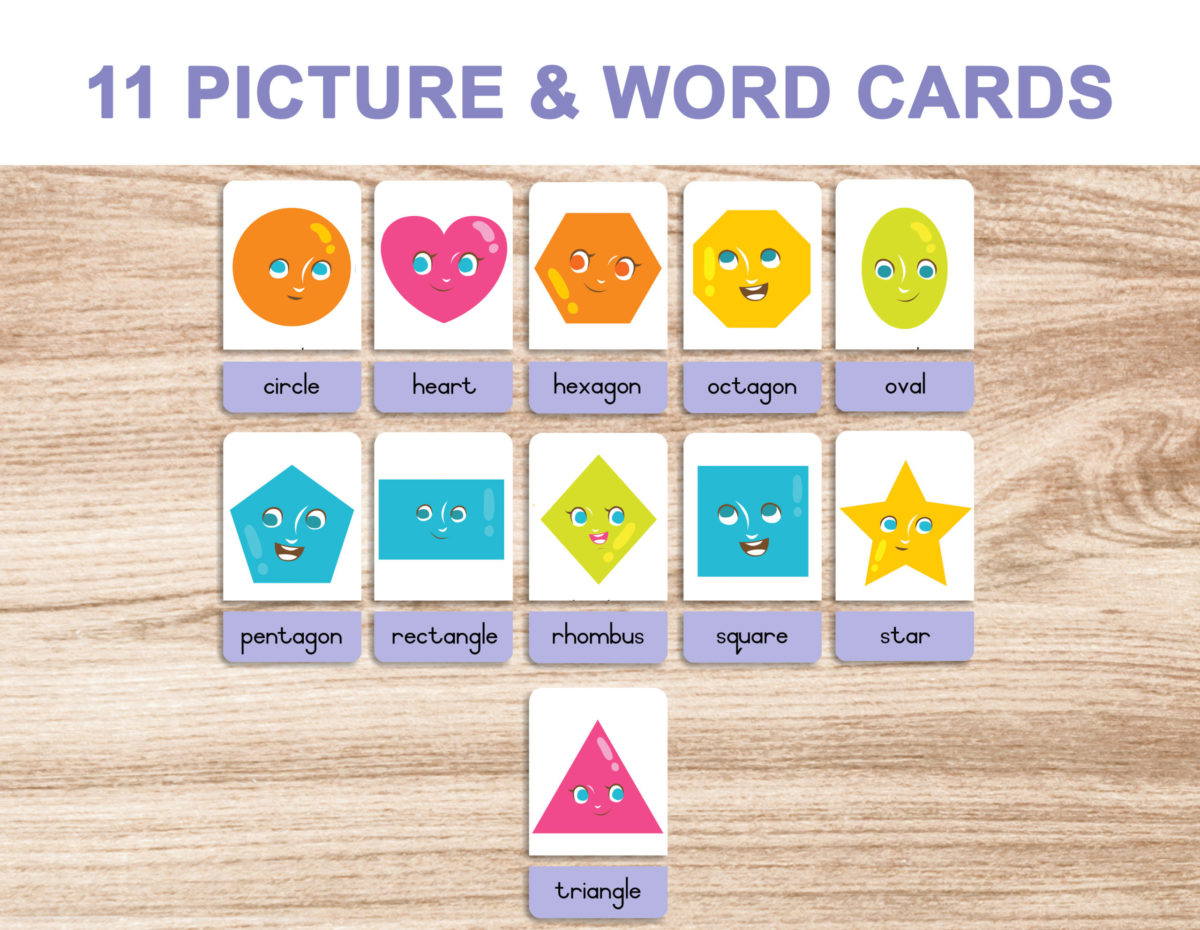 5. Shapes – Picture and Word Template 1