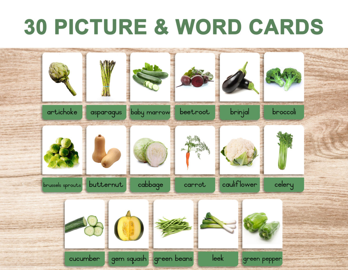 5. Vegetables – Picture and Word Template 1