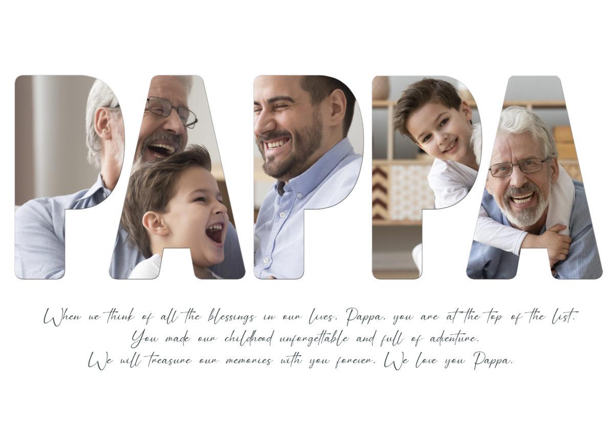 Pappa (Grandpa)- Template – A2