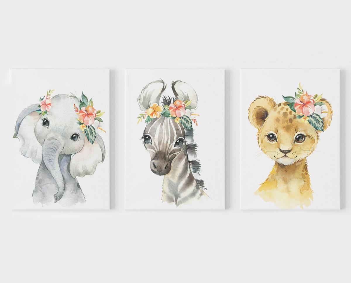 Baby Animal Girl Wall