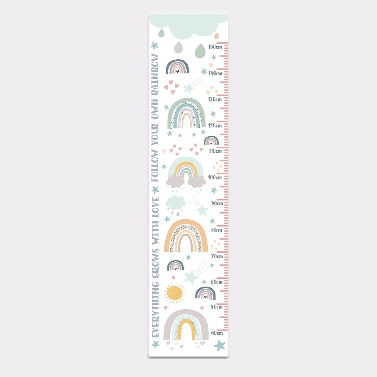 Rainbow Height Chart – Poster