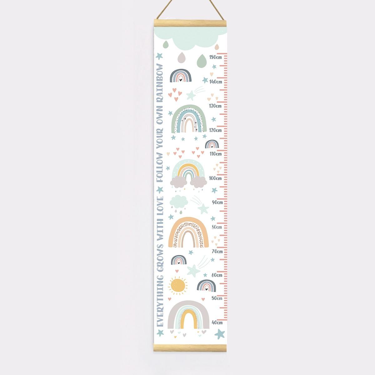 Rainbow Height Chart – Proof 1